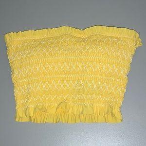 Yellow tub swim top